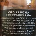 Cipolla Rossa con spezie in Olio Extra Vergine di Oliva 260 gr