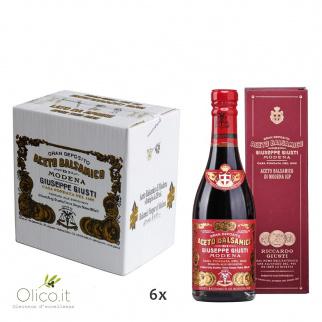 "Vinaigre Balsamique de Modena IGP 3 Médailles Or ""Riccardo Giusti"" avec boîte 250 ml x 6"
