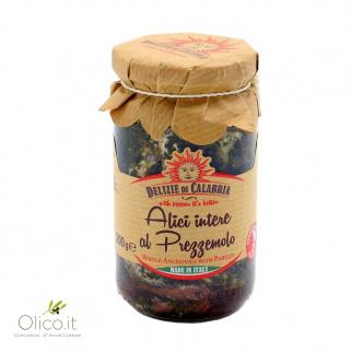 Sardellen mit Petersilie in Olivenöl