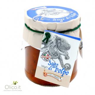Traditionele Toscaanse Tomatensaus met Octopus voor Pasta 180 gr