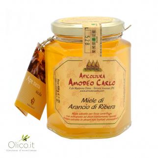Honing van Ribera-sinaasappel van Zwarte Siciliaanse bijen 400 gr
