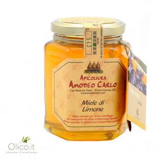 Lemon Honey Black Sicilian Honey Bee 400 gr