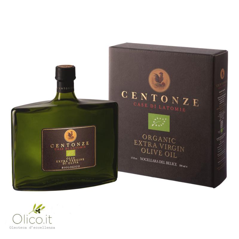 Organic Extra Virgin Olive Oil Monocultivar Nocellara del Belice 500 ml
