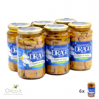 Tuna fillets in olive oil 550 gr x 6