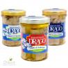 Trio filets in Olivenöl Sebastiano Drago: Makrelenfilets, Lachsfilets, Schwertfisch 200 gr x 3