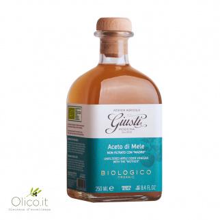 Biologisches Apfelessig ungefilterter Giusti 250 ml