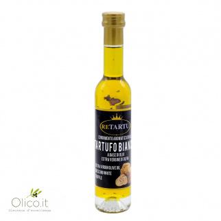 Condiment aromatisé à la truffe blanche à base d'Huile Extra Vierge d'Olive 100 ml