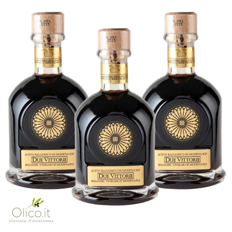 Trio Balsamic Vinegar of Modena PGI Extra Dense Due Vittorie Famiglia 250 ml x 3