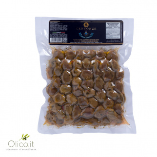 Dreessed Green Olives in Extra Virgin Olive Oil Centonze 520 gr