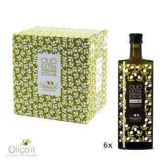 Essenza Huile d'Olive Extra Vierge Fruitée Moyenne Monovariétale Peranzana 500 ml x 6