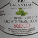 Cruche en Céramique avec Huile Extra Vierge d'Olive et Basilic 250 ml