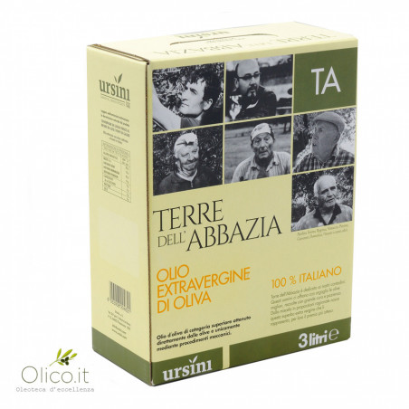 Huile d'Olive Extra Vierge Terre dell'Abbazia Bag in Box 3  lt