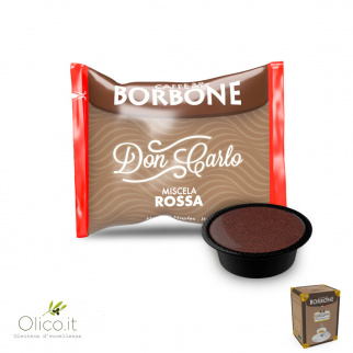 50 Capsules Caffè Borbone ROOD Mix geschikt voor Lavazza A Modo Mio*