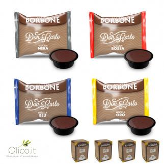 Set degustazione Caffè Borbone: 200 capsule compatibili Lavazza a Modo Mio* miscele assortite