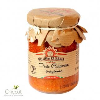 Pesto Calabrese van Zongedroogde Tomaat, Kappertjes en Pecorino 130 gr