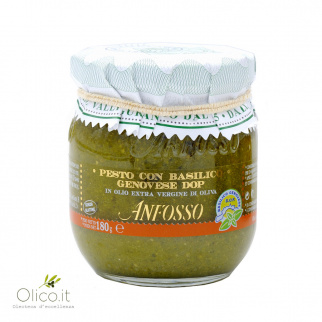 Pesto mit Basilikum Genovese DOP 180 gr