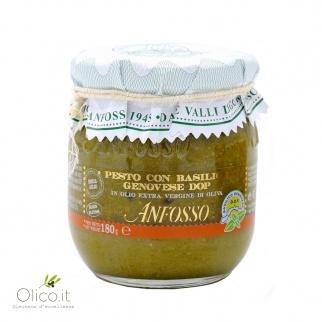 Pesto mit Basilikum Genovese DOP ohne Knoblauch 180 gr
