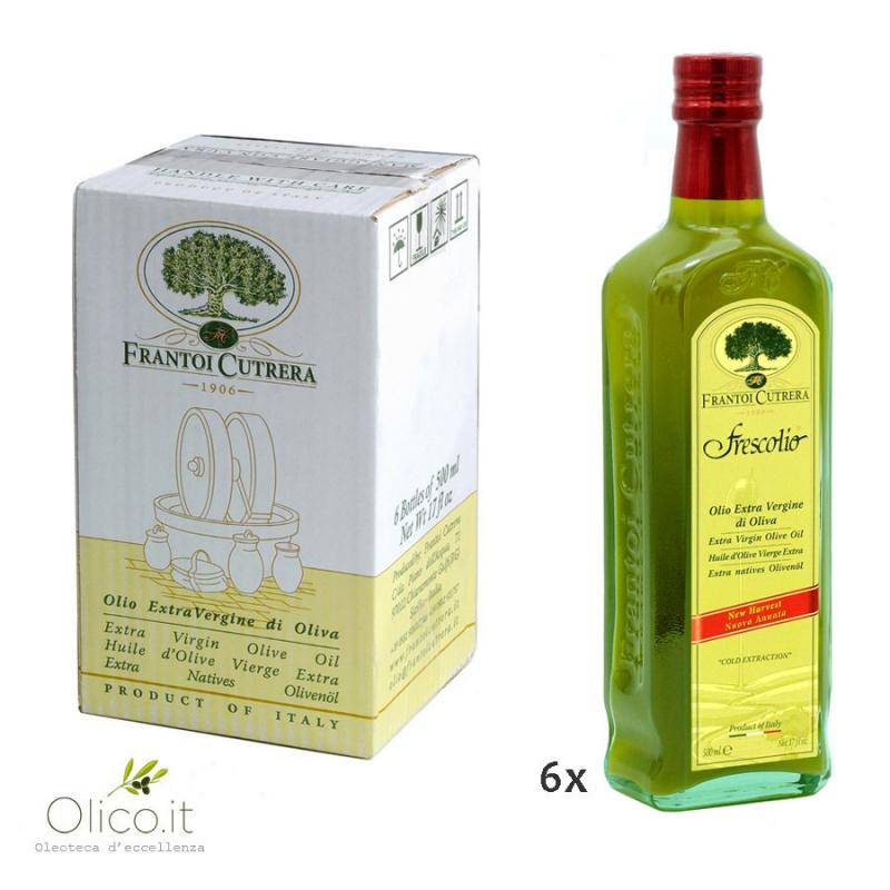 Olio Extra Vergine di Oliva Novello 2020 Frescolio Cutrera 500 ml x 6