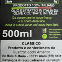 Huile Extra Vierge d'Olive Classico 500 ml x 6