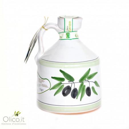 Cruche en Céramique artisanal Angel avec Huile d'Olive Extra Vierge 500 ml