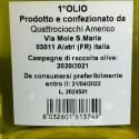 Olio Extra Vergine di Oliva Novello Quattrociocchi