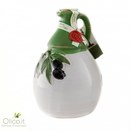 """Orcio in Ceramica Artigianale """"Picasso"""" con Olio Extra Vergine di Oliva"""