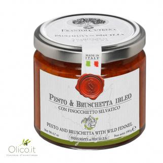 Pesto et Bruschetta Ibleo avec Fenouil Sauvage 190 gr