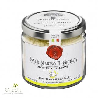 Meersalz aus Sizilien mit Zitrone aromatisiert 200 gr