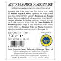 Vinaigre Balsamique de Modena IGP 1 Médaille d'argent 250 ml