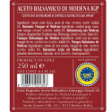 "Vinaigre Balsamique de Modena IGP 3 Médailles Or ""Riccardo Giusti"" 250 ml"