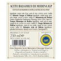 "Balsamic Vinegar of Modena PGI 5 Gold Medals ""Banda Rossa"" 250 ml"