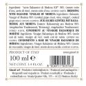 """Vinaigre Balsamique de Modena IGP 2 Médailles Or """"Il Classico"""" 100 ml"""