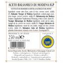 """Vinaigre Balsamique de Modena IGP 2 Médailles Or """"Il Classico"""" 250 ml x 6"""