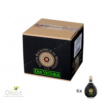 Organic Balsamic Vinegar of Modena PGI Due Vittorie Oro 500 ml x 6