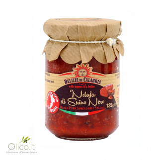 'Nduja Black Pork Spicy Spreadable Salami 135 gr