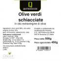 Olive Verdi Schiacciate in Olio extra Vergine di Oliva 500 gr