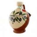 "Handmade Ceramic Jar ""Robin"" with Extra Virgin Olive Oil"