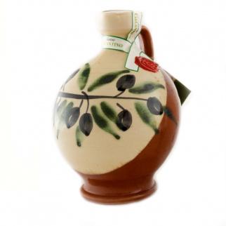 Handgemachter Keramikkrug Robin mit Nativem Olivenöl Extra 500 ml