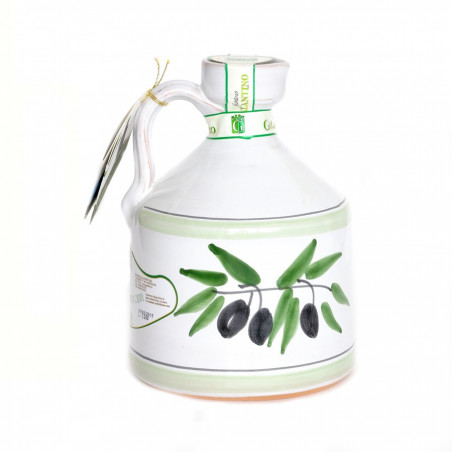 Orcio in Ceramica Angel con Olio Extra Vergine di Oliva 500 ml