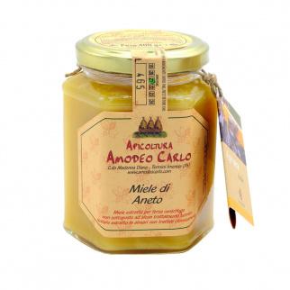 Dill flower Honey Sicilian Black bee 400 gr