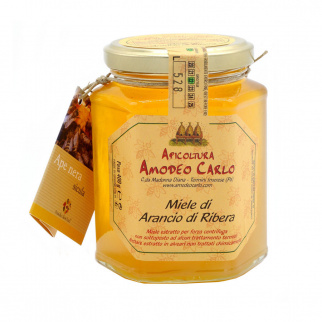 Miele di Arancio di Ribera Ape Nera Sicula 400 gr