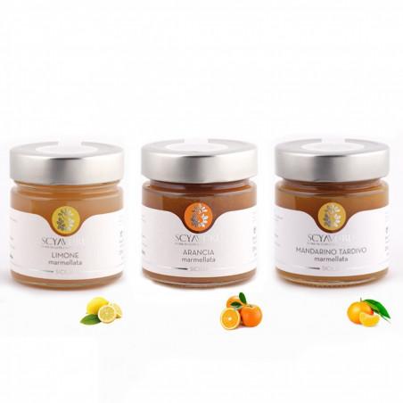 Set Marmellate: Limone Arancia e Mandarino Tardivo 250 gr x 3