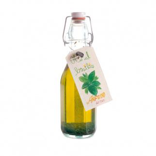 Condiment à base d'Huile d'Olive Extra Vierge au Basilic 250 ml