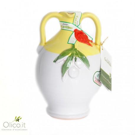 """Orcio in Ceramica """"Cincinnati"""" con Olio Extra Vergine di Oliva"""