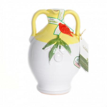 Handmade Ceramic Jar Cinci with Extra Virgin Olive Oil 500 ml