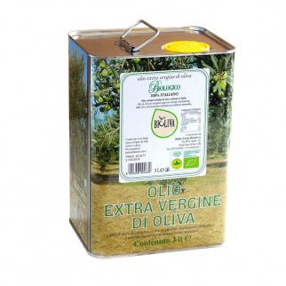 Organic Extra Virgin Olive Oil Bioliva 3 lt