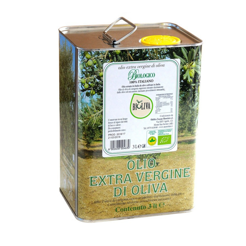 "Huile d'olive Extra Vierge Biologique ""Bioliva"" Morettini"
