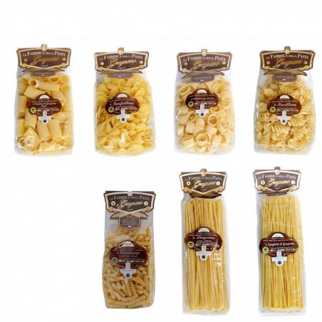 Multipack Pâtes de Gragnano IGP - Calamarata, Paccheri Rigati, Fusilloni, Linguine, Spaghetti, Farfalloni, Cavatappi 500 gr X 7