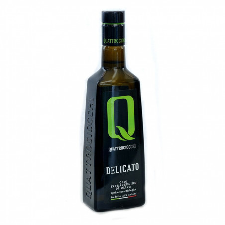 Quattrociocchi Delicato Biologische Extra Vergine Olijfolie van Leccino Olijven 500 ml