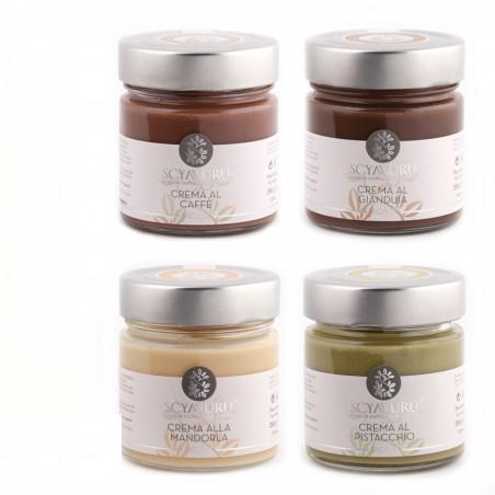 Sweet Cream Set: Coffee, Gianduia, Almond, Pistachio
